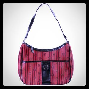 New Giani  Bernini high end red and black purse!
